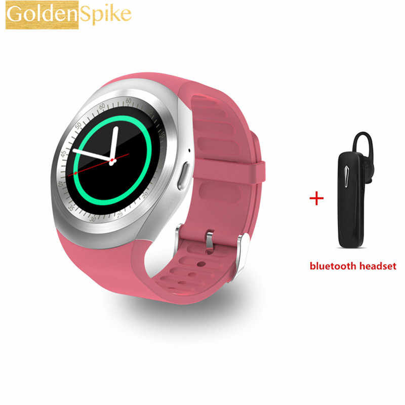 Y1 Smart Watch phoneSupport SIM/TF Card bluetooth Smartwatch Electronics  Stock For apple watch andriod xiaomi huawei Samsung gs3