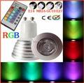 Big Sales AC85-265V 16 Colors changing RGB LED Lamp 3W 4W 5W GU10 RGB LED Bulb Lamp Spotlight with Remote Control free shipping