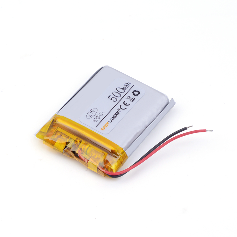 632631 polymer lithium battery 500MAH 602530 Watch PDA toys battery pack medical device Bluetooth Speaker LED Lighting DIY