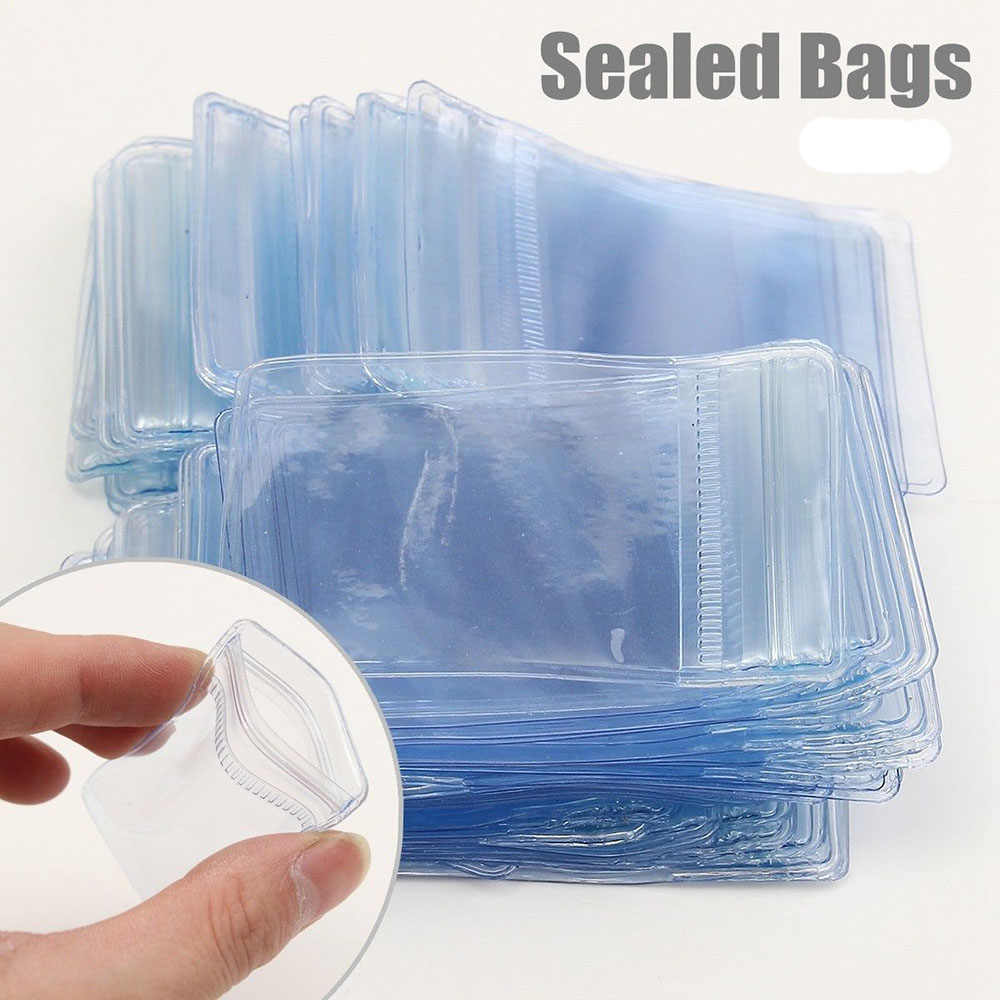 50/100/200x Small Zip Lock Plastic Bags Transparent Jewelry Ziplock Resealable Plastic Clear Storage Bag New Plastic Poly Clear