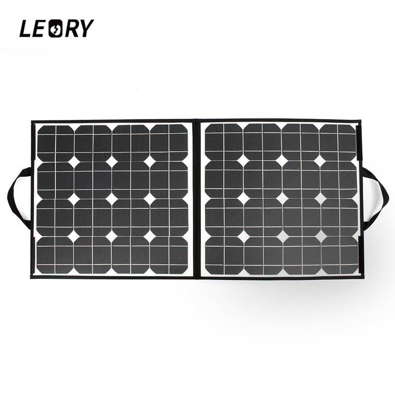 LEORY 100W 18V USB Solar Panel Monocrystalline Folding Solar City Solar Cells Charger For iPhone Tablets Laptop 550mm 20m diy solar panel eva film sheet for pv cells encapsulation