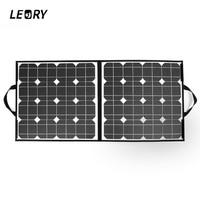LEORY 100W 18V USB Solar Panel Monocrystalline Folding Solar City Solar Cells Charger For iPhone Tablets Laptop