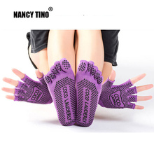 NANCY TINO Professional Yoga Sock Set Women Non-slip Five Finger Toe Socks Pilates Dance Athletic Sport Woman Massage