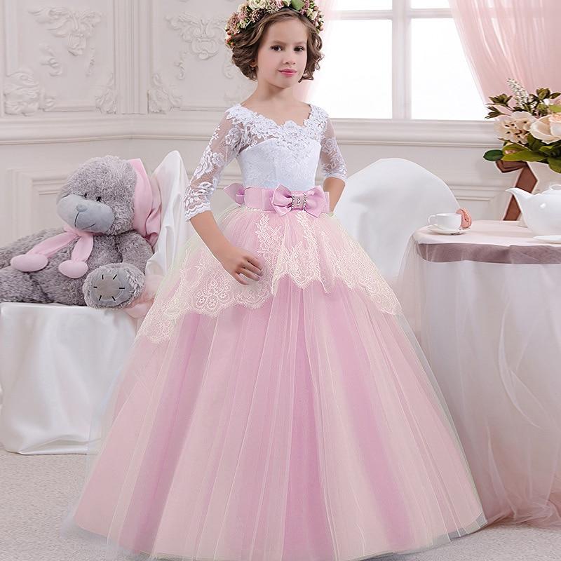 Girls Wedding Formal Dress Elegant Long Prom Dresses For