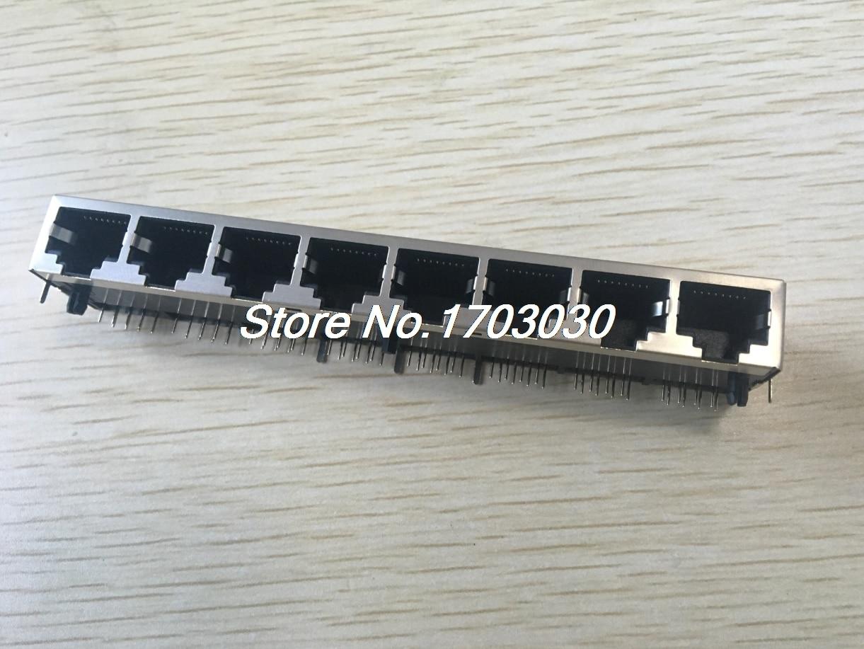 16 pcs RJ45 Network PCB Jack 59 8P 8 Ports LAN Connector 24 pcs rj45 modular network pcb jack 56 8p w led 4 ports