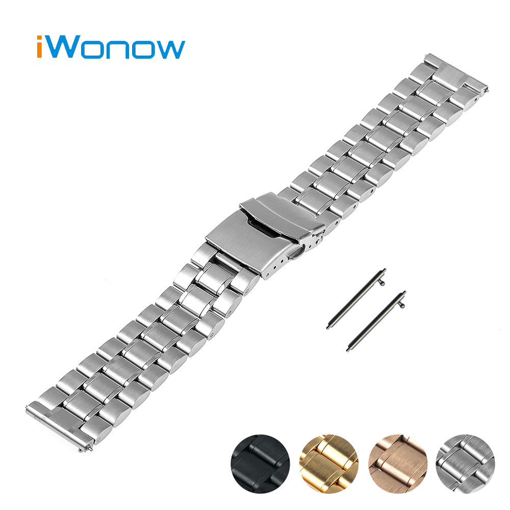 Stainless Steel Quick Release Watch Band 22mm for Samsung Gear S3 Classic / Frontier Safety Buckle Strap Wrist Belt Bracelet купить