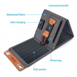 Image 2 - CHOETECH Solar folding Charger 14W USB Output Devices Portable Waterproof Solar Panels for iPad iPhone X XS samsung Smartphones