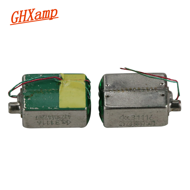 GHXAMP DTEC 31116 مركب المزدوج تتحرك الحديد وحدة منتصف التردد المنخفض سماعة وحدة اللغة يمكن بنيت في 535 الضميمة DIY
