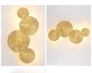 Image 2 - Altın Lüks Duvar Lambası Arka Plan Ev Kapalı Oturma Odası Yatak Odası Yaratıcı Moda Aydınlatma Modern Cam ışık topları LED