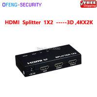 Splitter HDMI 1 permite que um dispositivo HDMI para ser dividido para 2 monitores compatíveis com HDMI para 1920x1080/60Hz o acesso a múltiplos HDMI pias