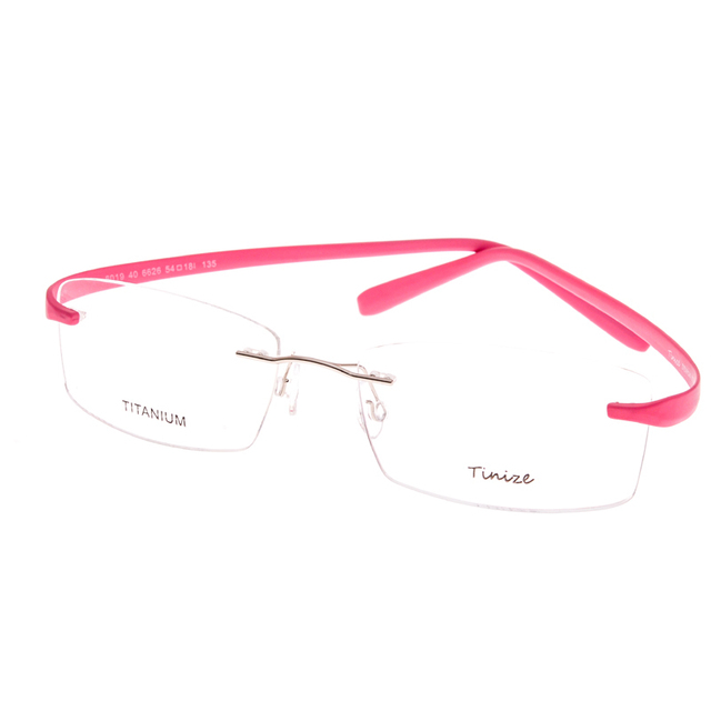 Light-weight 8 Colors TR90 Legs Rimless Optical Glasses Memory Titanium Eyeglasses Prescription Rx Optical Frames Demo Lens Only
