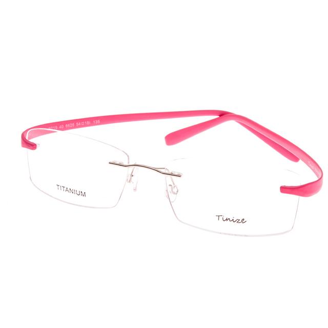 Peso-leve 8 cores pernas tr90 memória titanium sem aro vidros ópticos armações de óculos de prescrição rx lente demo só
