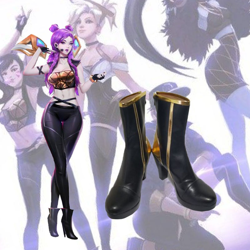 Game LOL K/DA Daughter of the Void Kaisa lolita shoes Cosplay Ladies fashion leisure cartoon PU leather shoes  anime shoes
