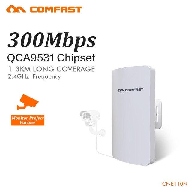Mini routeur sans fil COMFAST 2.4 Ghz 300 Mbps extérieur CPE Wifi répéteur pour projet de caméra IP amplificateur longue portée 1-2 KM