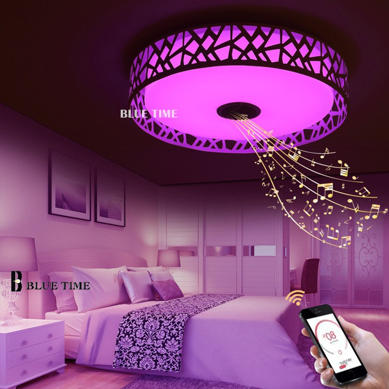 Rgb Music Lamps Modern Led Ceiling Light With Bluetooth App