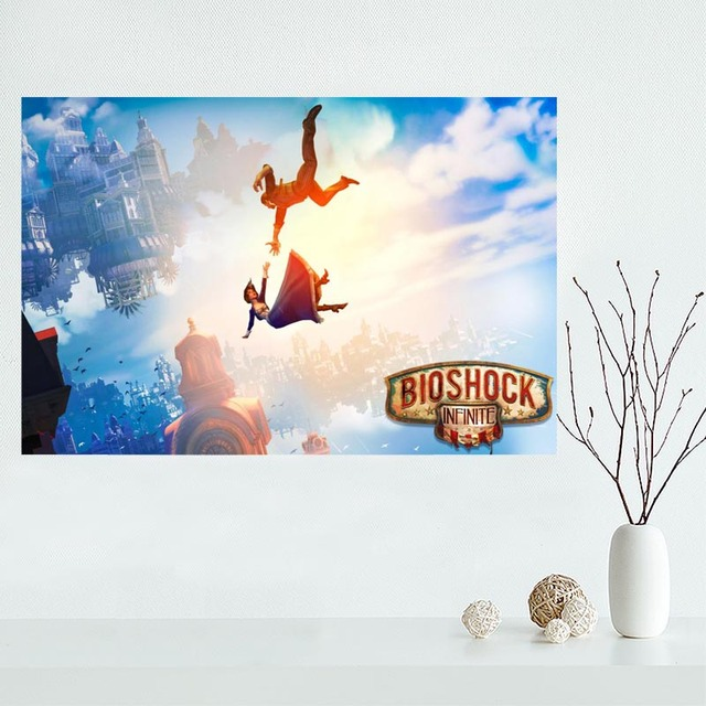 Fashion Classic Custom Bioshock Canvas Painting Poster Home Decor Cloth  Silk Fabric Wall Art Poster For