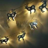 Romantiek Herten Fawn 1.65 M 10 LED Lamp String Light Kerstboom Decor Warme Kamer Verjaardag Vakantie Woonkamer Centerpieces