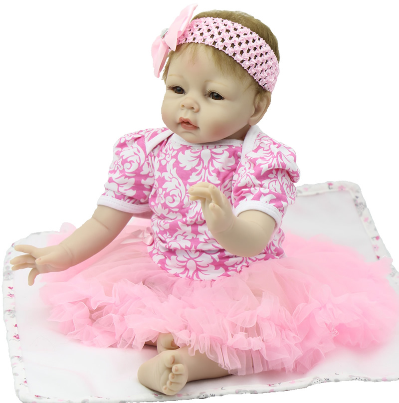 22 Inch Silicone NPK Collection Doll Handmade Newborn Baby Girl Realistic Reborn Babies Dolls Kids Birthday Gift