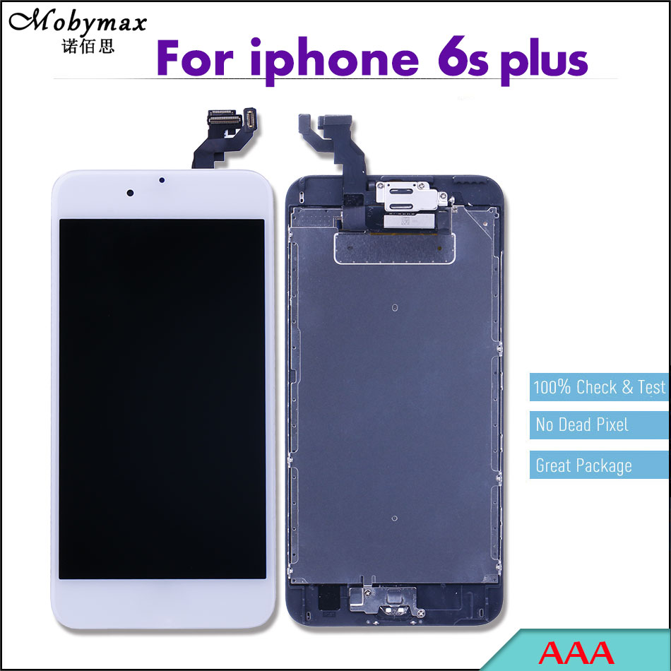 Mobymax Pantalla Ecran For iPhone 6s plus LCD Full Assembly Touch Screen Digitizer Display Complete+Home Button+Front Camera