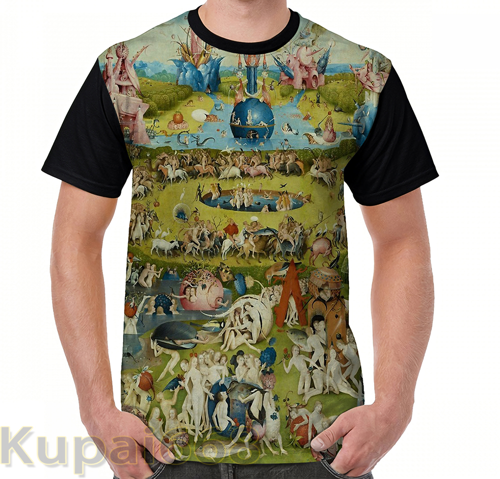 Funny Graphic Print T Shirt Men Tops Tees The Garden Of Earthly Delights By Hieronymus Bosch (1480-1505) Women T-Shirt