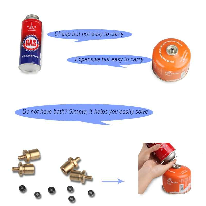 Outdoor Camping Gas Cilinder Gas Accessoires Lange gas tank vullen gas fittings Fittings