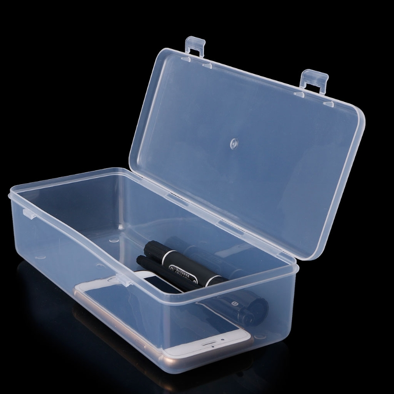 Rectangular Plastic Clear Storage Box Jewelry Container Case <font><b>Bead</b></font> <font><b>Organizer</b></font> Case 23.4*9.9*5.6CM image