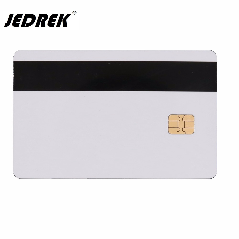 2 in 1 Blank Combi-card 4442 Magnetic IC Chip Card With SLE 4442 Chip Magnetic Stripe Smart Card hotel card 20pcs lot contact sle4428 chip gold card with magnetic stripe pvc blank smart card purchase card 1k memory free shipping