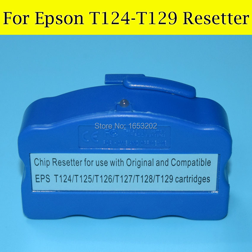 1 PC Chip Resetter For Epson T124 T125 T126 T127 T128 T129 Ink Cartridge cs dx18 universal chip resetter for samsung for xerox for sharp toner cartridge chip and drum chip no software limitation
