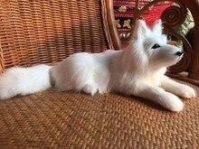 simulation lying husky dog about 30*11CM model toy polyethylene & furs dog toy dog handicraft ,decoration gift t408