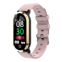 Woman' Smart Watch Waterproof Silicone Band Digital Sport Watch Women Multifunction Color Screen Smart Bracelet for Android IOS