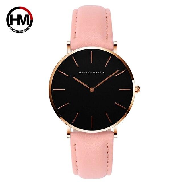 f61d8086330 Mulheres tamanho 36mm fino preto dial relógios relogio feminino esporte moda  casual senhoras nylon marca quartz