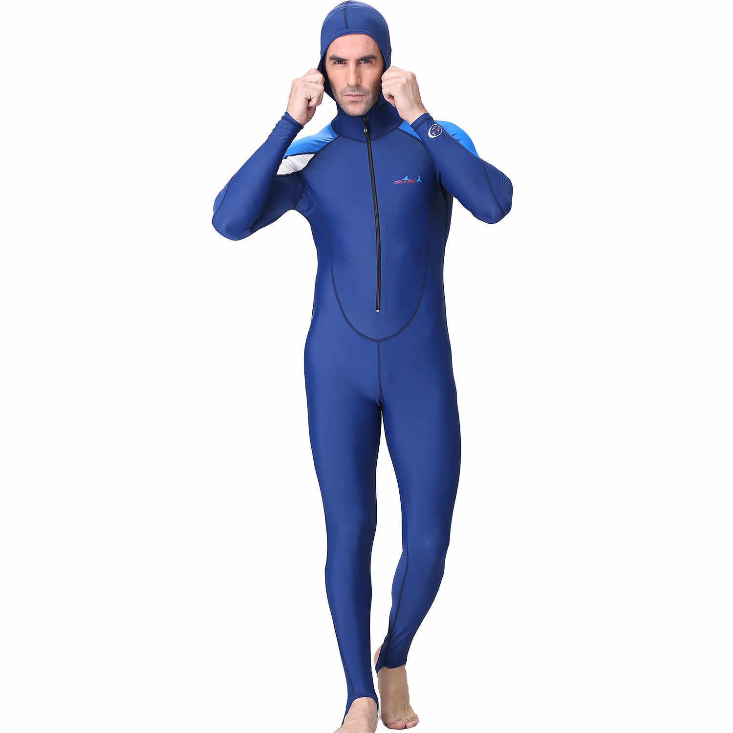 Mannen Hooded Duikpak Zwemmen Stinger Suit Dive Skin Snorkelen Surf Waterski Anti-Uv Dragen Full Body Met Caps kap Mannen vrouwen