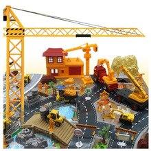 200 pcs Canteiro De obras de Engenharia de Construção Cena Modelo Set For Kids Presente Das Crianças Brinquedo Canteiro de obras de Construção Cena Modelo