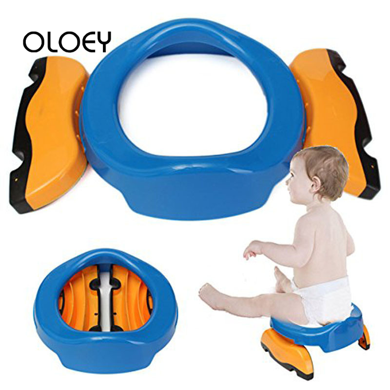 OLOEY Baby Plastic Folding Toilet Seat Infant Chamber Potties Ring Kid Children Trainers Portable Potty Toilet Comfortable Chair