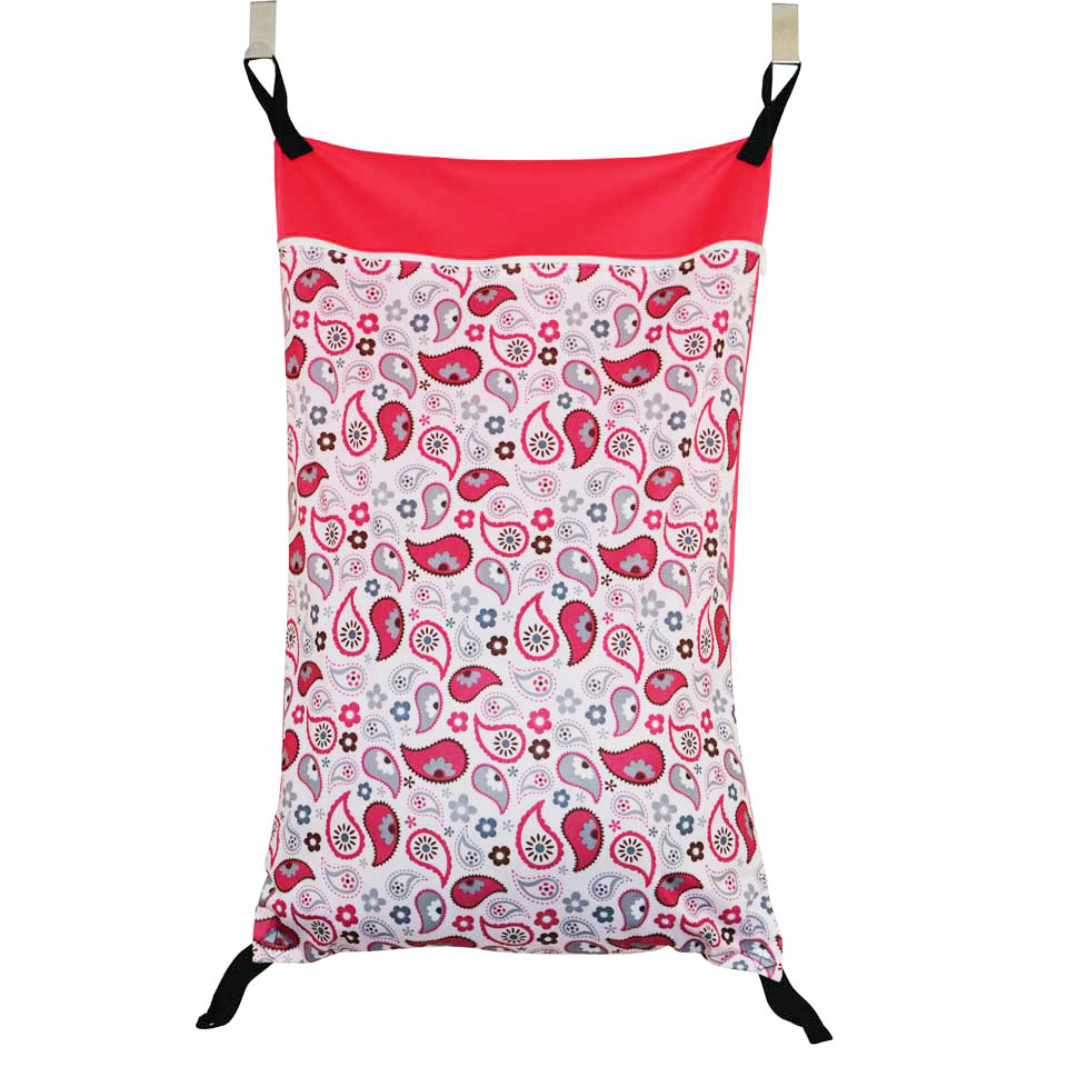 Extra Large Hanging Wet/Dry Pail Bag With Two Hook For Cloth Diaper,Inserts,Nappy,Laundry With Two Zippers Waterproof Diaper Bag