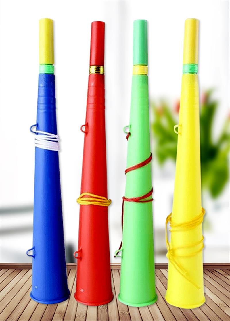 2018 Football fans Party Horn Loud Sound Cheer Noice Maker Plastic Horn Toy Party Favor for Football Fans 8.3