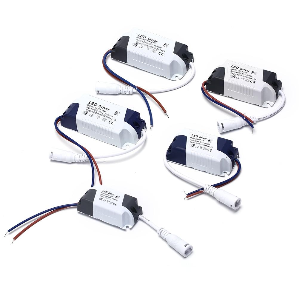 Светодиодный светильник-трансформатор 1 шт., адаптер питания для светодиодных ламп/ламп 1-3 Вт 4-7 Вт 8-12 Вт 13-18 Вт 18-24 Вт, безопасный светодиодны...