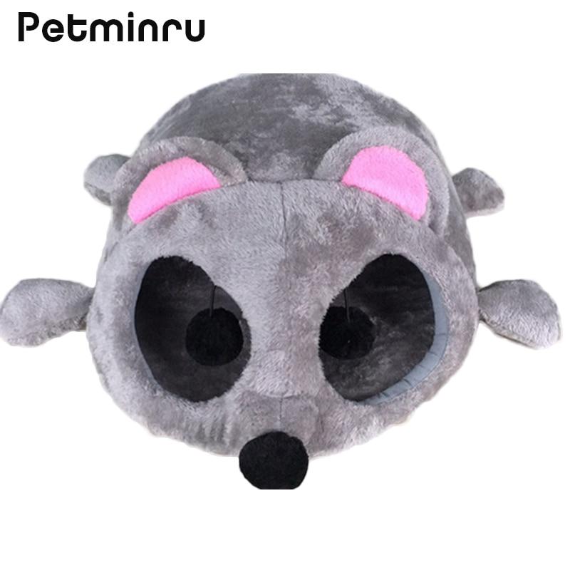 Petminru Autumn Winter Dog House Warm Cat House Sofas Cartoon Mouse Shape  Pet Nest Cat Tunnel