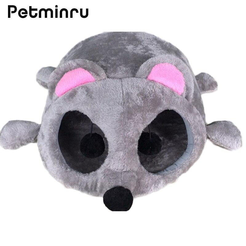 Petminru autunno inverno casa del cane caldo gatto di casa divani figura del mouse del fumetto nido dell'animale domestico del gatto tunnel letto antivento pet bed