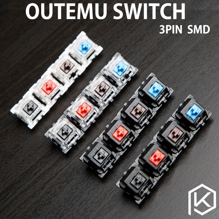 OTM Otm Outemu Switch 3pin Blue Red Black Brown For Custom Mechnical Keyboard Xd64 Xd60 Eepw84 Gh60 Tada68 Rgb 87 104 Zz96