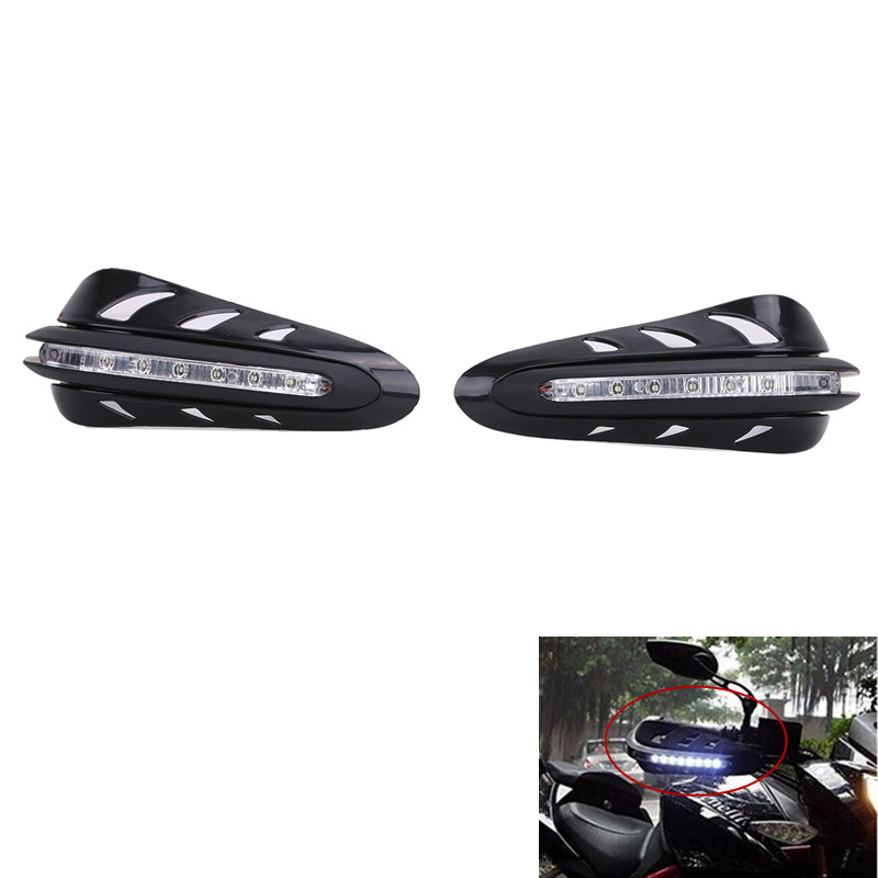 2x Motorcycle Hand Guards with LED Turn Signal Light for Harley Yamaha Ktm Honda Handguards Motorbike Accessories #MBI309