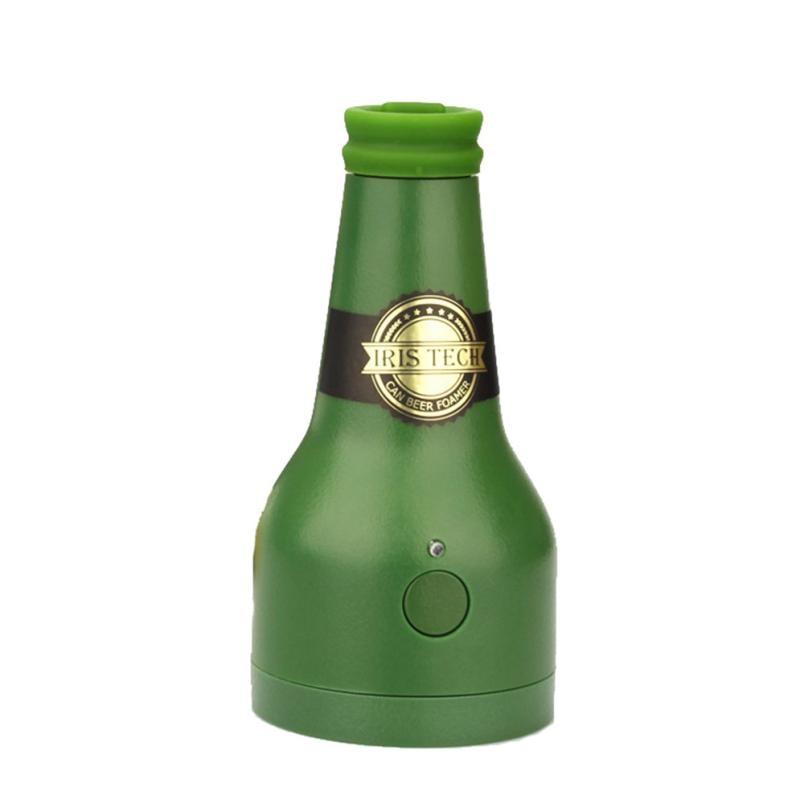 2018 Ultrasone Bier Foamer Draagbare Bier Waskolf Fles Vorm Foam Maker Voor Drankjes Bar & Wijn Gereedschap Psw0717