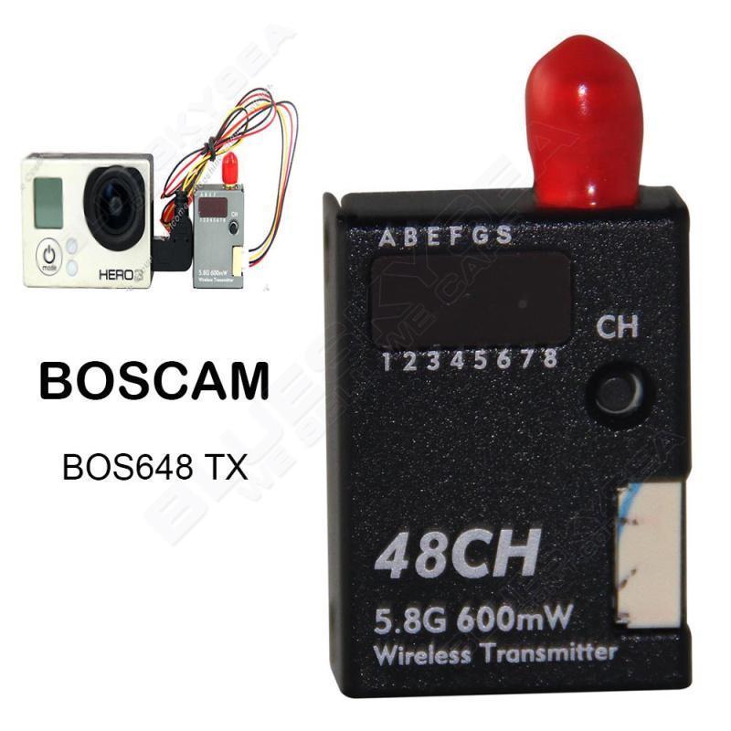 Free shipping! BOS648 5.8G 600mW 48CH FPV Camera Video Transmitter TX for Gopro 3,3+,4 free shipping tx600 5 8g 600mw fpv transmitter video tx av 32ch video for for dji phantom 2