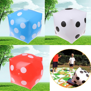 35cm Inflatable Multi Color Blow-Up Cube Big Dice Toy Stage Prop Group Game Tool Casino Poker Party Decorations Pool Beach Toy(China)