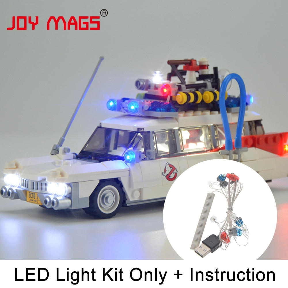 JOY MAGS LED Light Up Kit Kit für Ghostbusters Ecto-1 Light Set Kompatibel mit 21108 (Modell nicht enthalten)