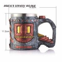 HUFA'S MOOIE THUIS Creatieve Hars Rvs Liner Dubbele Geïsoleerde Kinderen Drinkbeker Retro Pistool Cup