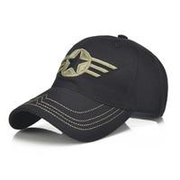 1Piece Army Cap Baseball Cap Men Outdoor Sports Leisure Hats Star Embroidery Sport Cap For Men