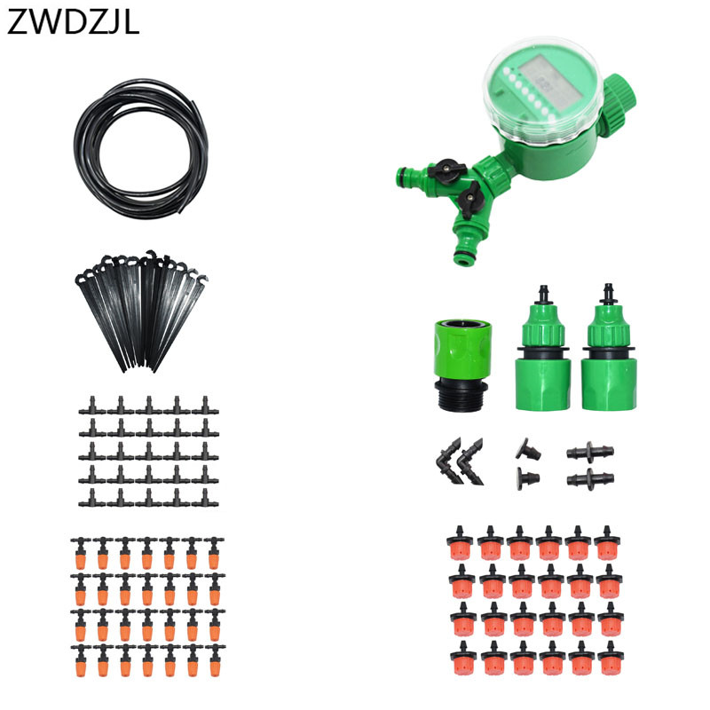 Automatic irrigation system 2 way watering kit DIY automatic garden watering Greenhouse strawberry irrigation 1 set