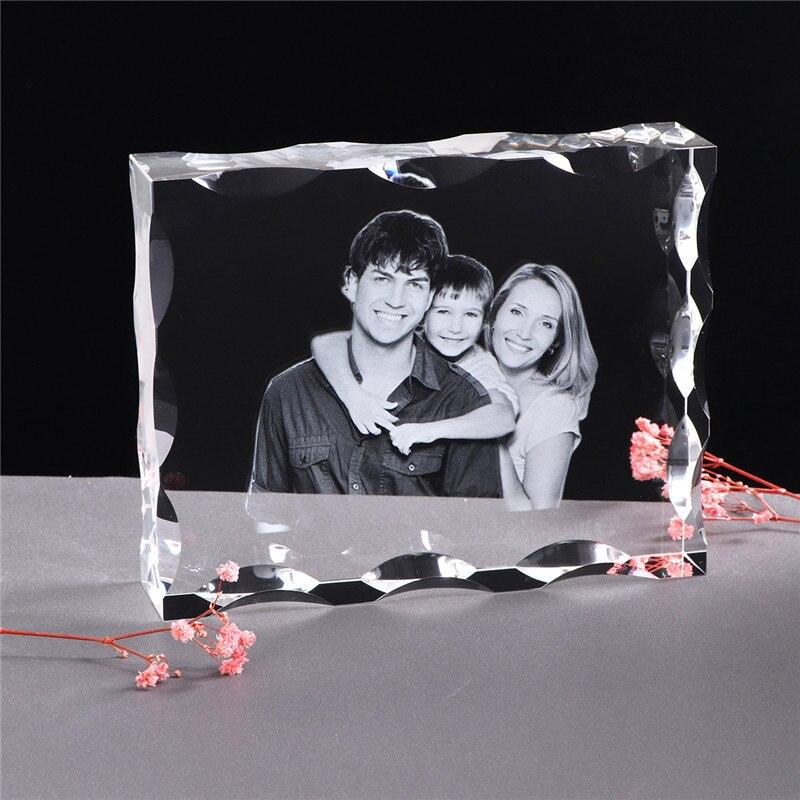 Cadre Photo Photo personnalisé en cristal personnaliser Laser gravé Album Photo carré Photo cadeau de mariage pour les invités cadeau Souvenir