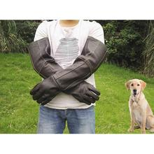 Thicken Long Anti-Bite Scratch Proof Cattlehide Gloves for Pet Dog Cat Snake Rescue Station
